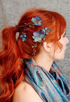 Radiant orange hair