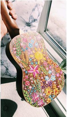 painted guitar:) beautiful artwork