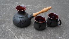 Ceramic cezve Turkish coffee pot Coffee maker by CeramaStudio