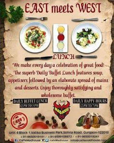 Not happy with your lunch box Again! Head to Caffe Madhouse for our exotic #Lunch Buffet to soothe your taste buds! #food #foodgasm #BeThere #unlimited #MadhousePeople