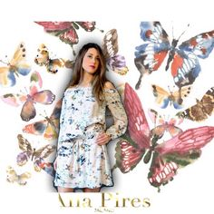 Butterflies  Silk dress, low waist, 3/4sleeves, off shoulder, lined. Amazing print! In rosé background with colourful butterflies. Spring Summer 2016 #anapiresmilano  Buy now at Amazon✔️ link in bio✨#silkdress #butterflies #anapires #amazon #print #kleidung #kleid #seide #soie #seta #italianbrand #look #style #moda #lookbook #frühling #fashion #spring #fantasia #farbe #colors #strandlook #boho #mood #colorful #pink