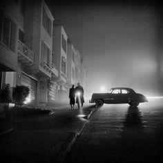 Foggy Night Lands End San Francisco 1953 by photoblog.sanfranciscofeelings.com sanfrancisco sf bayarea alwayssf goldengatebridge goldengate alcatraz california