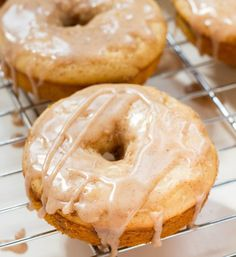 Baked Cinnamon Donuts  #doughnuts