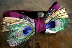 Peacock Feather Bow Tie/Feather Bow Tie/Christmas Gifts/Gifts For Men/Gifts For Him/Stocking Stuffer/Women's Bow Tie on Etsy, $100.00