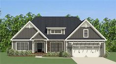 This lovely Craftsman style home with Ranch influences (House Plan has 2158 square feet of living space. The 1 story floor plan includes 3 bedrooms. House Plans One Story, Ranch House Plans, New House Plans, Dream House Plans, House Floor Plans, Craftsman Ranch, Craftsman Style Homes, Ranch Style Homes, Craftsman House Plans