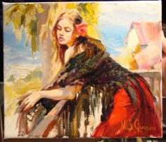 michael inessa garmash paintings | Michael and Inessa Garmash - Terrace View - Original Painting