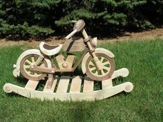 Rocking Wooden Motorcycle