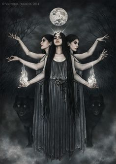 "Victoria Francés - ""HEKATE- Illustration for the upcoming CD FAUN - LUNA"""