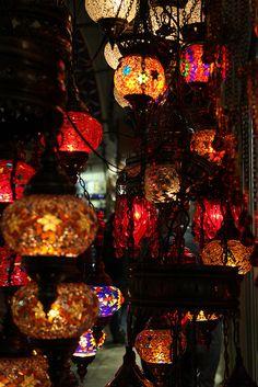 Turkish lanterns, Grand Bazaar, Istanbul.