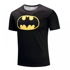 Superman Tshirts Men Compression Shirts Batman Tops The Flash T-shirts Fitness Crossfit Tees Bodybuilding camiseta rashguard Batman Spiderman, Superman T Shirt, Superman 3d, Superhero, Summer Outfits Women, Outfits For Teens, Avengers Costumes, Cartoons, Names