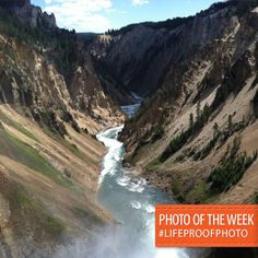 "Congratulations to our #LifeProofPhoto Photo of the Week Winner Brandon McFall for his photo submission named, ""The Grand Canyon of the Yellowstone"""