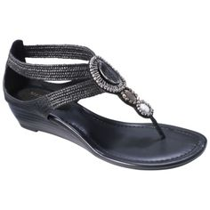 Womens Merona® Estefani Embellished Sandal - Black.Opens in a new window