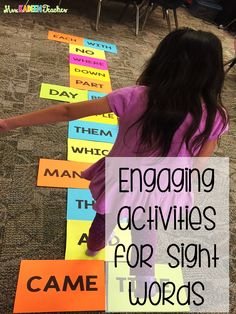Engaging sight word activity for kindergarten Could create cake walk with sight words for Fall Fest Teaching Sight Words, Sight Word Practice, Sight Word Activities, Kindergarten Sight Words, Sight Word Centers, Vocabulary Activities, High Frequency Words Kindergarten, Letter Recognition Kindergarten, Sight Word Wall