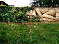Nature street art is visual art. Street art created by artists. the artist has to search for the perfect spot, knowing that the elements of nature are not permanent, 3d Street Art, Urban Street Art, Best Street Art, Amazing Street Art, Street Art Graffiti, Street Artists, Urban Art, Amazing Art, Graffiti History