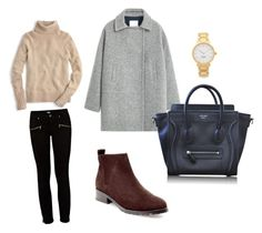 """""""Untitled #46"""" by fashionkid-1 on Polyvore featuring Blondo, Paige Denim, MANGO, CÉLINE, Kate Spade and J.Crew"""