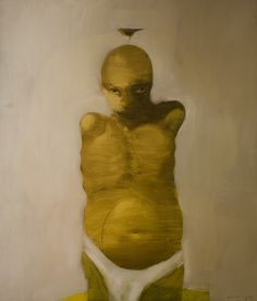 Young Man, 2008 acrylic & oil on canvas 135x115cm by Do Hoang Tuong