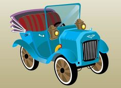 Old-timer Car vector free