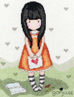 Heart - Gorjuss Cross Stitch Kit - Bothy Threads