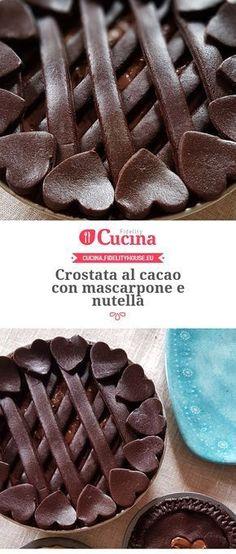 Crostata al cacao con mascarpone e nutella