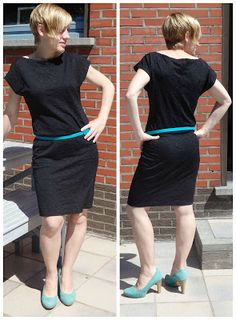 Lunatiek: Gratis patroon getest en aangepast: Natty top goes little black dress! Diy Clothing, Sewing Clothes, Diy Dress, Dress Skirt, Retro Dress, Mode Inspiration, Sewing Patterns Free, Diy Fashion, Girl Outfits