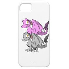 Silver/Bubblegum SD Furry Dragon iPhone 5 Cases  #zazzle #artofganenek #anime #dragons #iphonecases