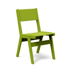 Dining outdoors with friends in the temperate air of summer is hard to beat. Whether it's a casual affair or a full blown dinner party we designed our Alfresco Dining chair for both function and comfort. The one inch thick plastic frame creates a solid chair that feels more like an indoor dining chair. This stackabledining chair is part of Loll'sAlfresco Collection.
