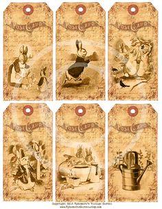 Peter Rabbit Easter Hang Tags - Printable - Beatrix Potter.