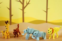 pipecleaner african animals