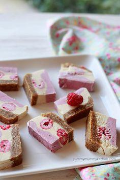 4. Raspberry Raw Vegan Cheesecake Slice