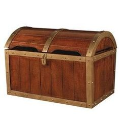 Shiver Me Timbers Antique Honey Brown Oak Toy Chest :) peter pan/pirate nursery