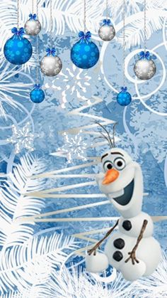 Olaf with his Christmas Trees. Merry Christmas Wallpaper, Xmas Wallpaper, Frozen Wallpaper, Disney Phone Wallpaper, Disney Frozen Olaf, Disney Christmas, Christmas Snowman, Christmas Trees, Christmas Backrounds