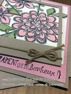 """Doodling + Jeu d'étampes / Stamp Set """"Flower Patch"""" ... www.creationencreetpapier.com"""