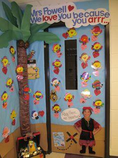 ARRR. Classroom door Classroom Wall Decor, Classroom Walls, Classroom Ideas, Room Mom, Class Room, School Doors, Room Stuff, Board Ideas, Bulletin Board