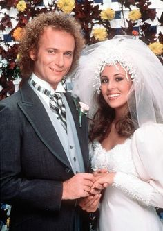 """Luke and Laura's Wedding Photo: Everett Collection. Genie Francis as Laura Webber on """"General Hospital, 1981. The wedding of  Luke and Laura was watched by a whopping 30 million viewers, making it the highest-rated hour in the history of American soap operas.  via shine.yahoo.com"""