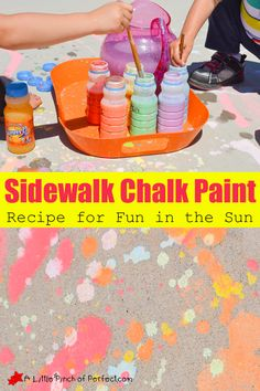 Homemade Sidewalk Chalk Paint Recipe for Fun in the Sun   A Little Pinch of Perfect