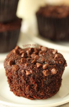 These Chocolate Banana Muffins are grain-free, gluten-free and dairy-free!