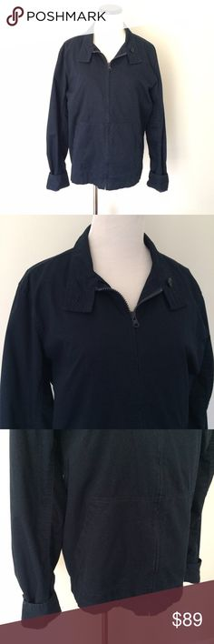 """VINCE Navy blue cotton zip up Jacket Casual zip up Jacket from Vince. Red plaid lining. 100% cotton. No damage, normal wash wear. Length 25"""". Chest 21.5"""". Front pockets. Pocket inside as well. Vince Jackets & Coats"""