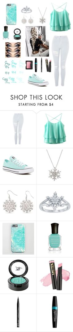 """""""21st Century Elsa"""" by daughter-of-the-devil ❤ liked on Polyvore featuring Topshop, Converse, Giani Bernini, Kim Rogers, Disney, Deborah Lippmann, Beauty Is Life, NYX and NARS Cosmetics"""