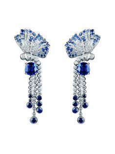 Van Cleef & Arpels Papillon fine jewelry line – Azure Papillons Earrings