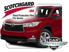 2016 Toyota Highlander 3M Scotchgard PRO Clear Bra Paint Protection Standard Kit