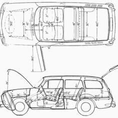 VW Squareback Vw Variant, Volkswagen Type 3, Wine Candles, Technical Illustration, Vintage Cars, Cool Pictures, Orange Square, Blue Prints, Pond