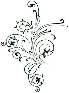 If I were to get a big side tattoo, it would probably be filigree/scrollwork :) Hena, Filigree Tattoo, Swirly Tattoo, Delicate Tattoo, Damask Decor, Baroque Decor, Filigranes Design, Swirl Design, Creation Art