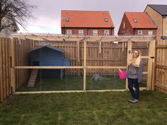 After a little bit more work the enclosure is now chicken ready! All the wire is on the front, the padlock is on the door and the coop is repaired. Now all we need is the chickens, which should be …