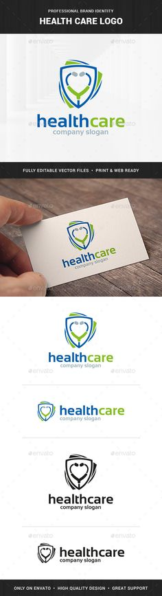 Health Care Logo Template — Transparent PNG #check #care • Available here → https://graphicriver.net/item/health-care-logo-template/16646512?ref=pxcr