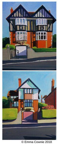 Mock Tudor houses, Sketty, Swansea by contemporary artist Emma Cownie