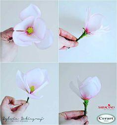 Wafer Paper Magnolia Flower by Sylwia Sobiegraj