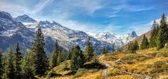 Take a hike with us along the ridiculously spectacular panorama trail from Gadastatt to the Zervreil Reservoir! Places In Switzerland, Swiss Alps, Mother Nature, Trail, Hiking, Mountains, Poster, Europe, Viajes