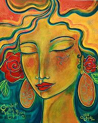 """Imagine Peace """"Way of Being"""" Shiloh Sophia McCloud Painting Inspiration, Art Inspo, Abstract Faces, Shiloh, Leaf Art, Illustration Girl, Face Art, Art Forms, Painting & Drawing"""