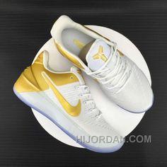 160b90ddd810 Nike Kobe 12 AD White Gold Men Christmas Deals CmstF