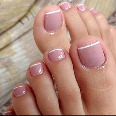 Pretty Toe Nails, Cute Toe Nails, Acrylic Toes, Best Acrylic Nails, Toe Nail Designs, Acrylic Nail Designs, French Pedicure, Nail Designer, Bride Nails